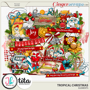 Tropical Christmas Elements by JB Studio and Tita
