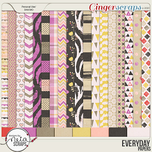 Everyday - Papers - by Neia Scraps
