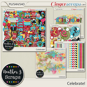 Celebrate! BUNDLE by Heather Z Scraps