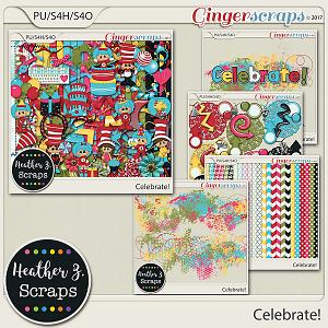 Celebrate! BUNDLE by Heather Z Scraps