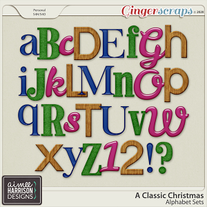 A Classic Christmas Alpha Sets by Aimee Harrison