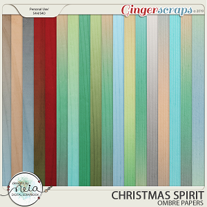 Christmas Spirit - Ombre Papers - by Neia Scraps