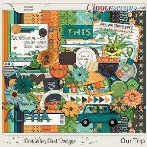 Our Trip Digital Scrapbook Kit