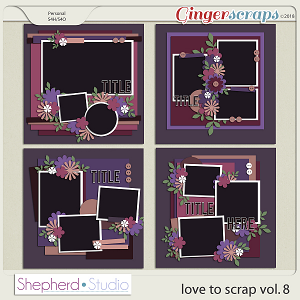 Love to Scrap Volume 8 Templates by Shepherd Studio