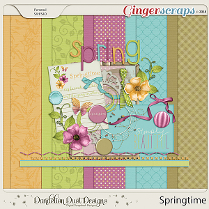 Springtime Digital Scrapbook Kit By Dandelion Dust Designs