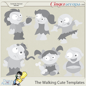Doodles By Americo: The Walking Cute Templates