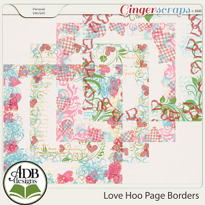 Love Hoo Page Borders by ADB Designs