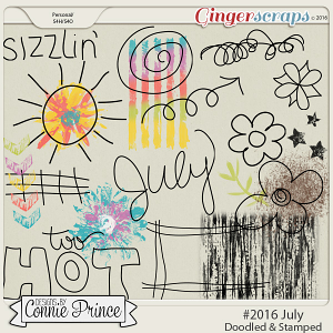 #2016 July - Doodles & Stamps