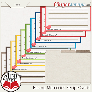 Baking Memories Recipe Cards by ADB Designs