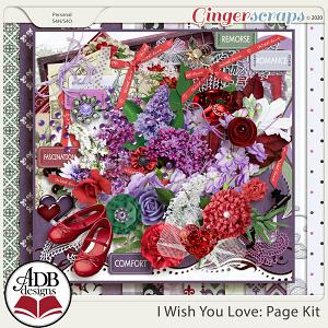 I Wish You Love Page Kit by ADB Designs