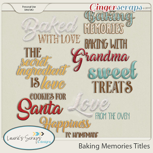 Baking Memories Titles