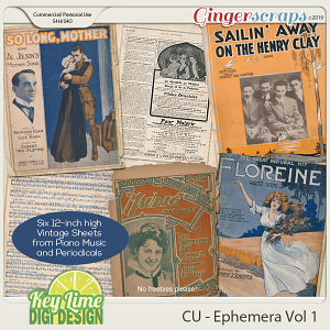 CU Ephemera Volume 1 by Key Lime Digi Design