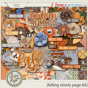 Falling Slowly Page Kit by Chere Kaye Designs
