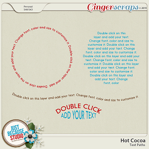 Hot Cocoa Text Paths by JB Studio