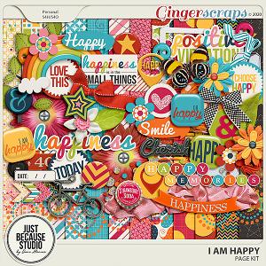 I Am Happy Page Kit by JB Studio