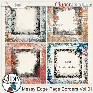 Heritage Resource - Messy Edge Page Borders Vol 01 by ADB Designs
