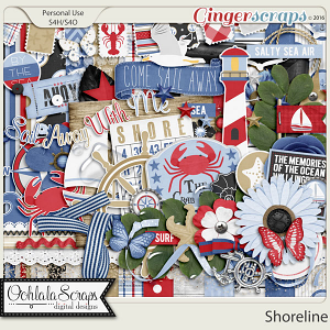 Shoreline Digital Scrapbooking Kit