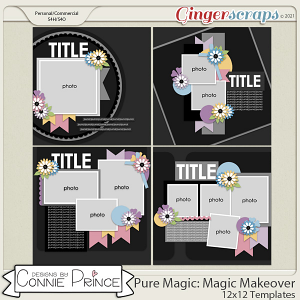 PureMagic: Magic Makeover - 12x12 Templates (CU Ok) by Connie Prince