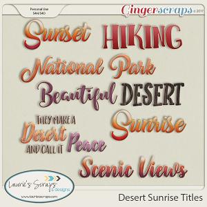 Desert Sunrise Titles