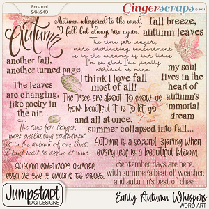 Early Autumn Whispers {Word Art}