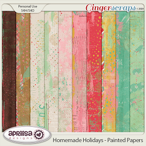 Homemade Holidays - Painted Papers