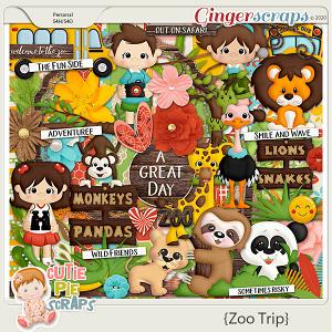 Zoo Trip Page Kit