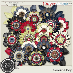 Genuine Boy Layered Flowers