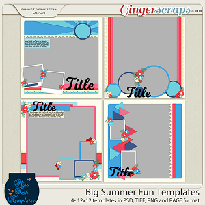 Big Summer Fun Templates by Miss Fish