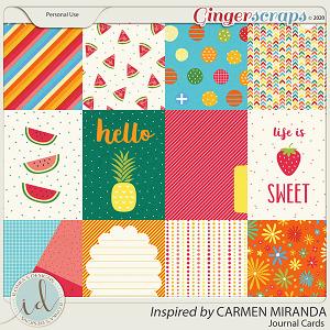 Inspired By Carmen Miranda Journal Cards by Ilonka's Designs