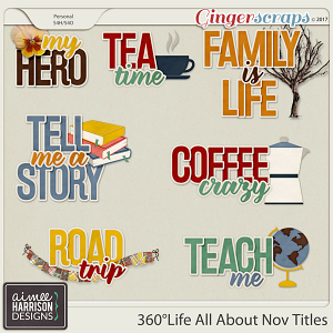 360°Life All About November Titles by Aimee Harrison