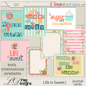 Life Is Sweet: Journal Cards by LDrag Designs