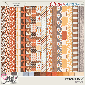 October Days Papers - By Neia Scraps