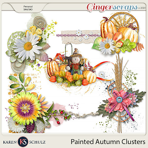 Painted Autumn Clusters by Karen Schulz