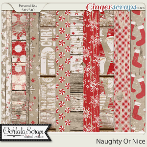 Naughty Or Nice Worn Wood Papers
