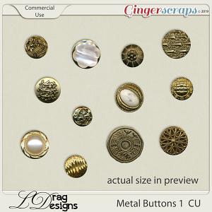 Metal Buttons 1 CU by LDragDesigns