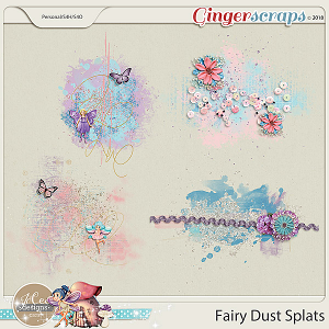 Fairy Dust Splats by JoCee Designs