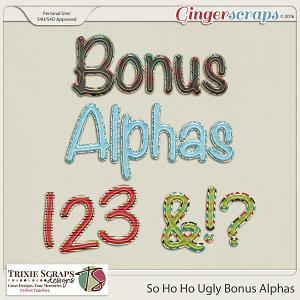 So Ho Ho Ugly Bonus Alphas by Trixie Scraps Designs