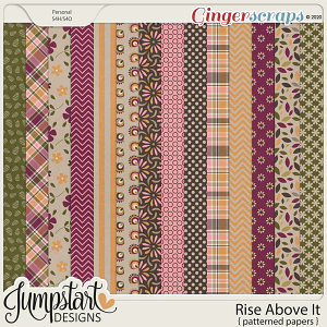 Rise Above It {Patterned Papers} by Jumpstart Designs