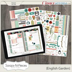 English Garden Planner Pieces by Scraps N Pieces
