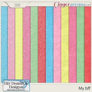 My bff {Glitter Papers} by Day Dreams 'n Designs