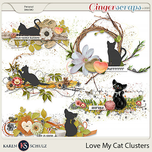 Love my Cat Clusters by Karen Schulz