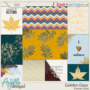 Golden Days Pocket Cards by Angelle Designs