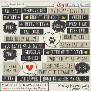 Pretty Paws: Cats (word bits)