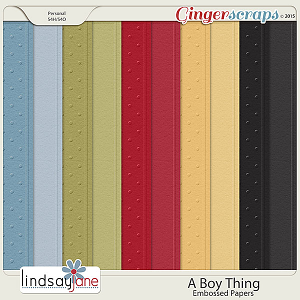 A Boy Thing Embossed Papers by Lindsay Jane