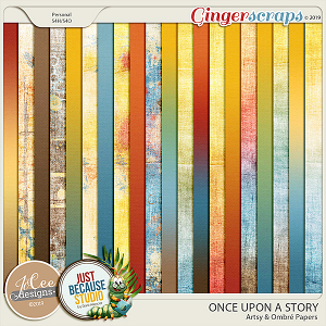 Once Upon A Story Artsy and Ombre Papers by JoCee Designs and Just Because Studio