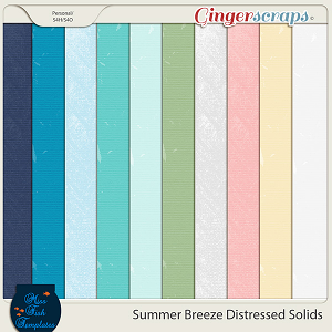 Summer Breeze Solid Distressed Paper Pack by Miss Fish