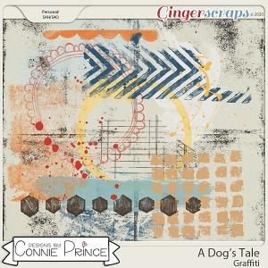 A Dog's Tale - Graffiti by Connie Prince