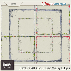 360°Life All About December Messy Edges by Aimee Harrison