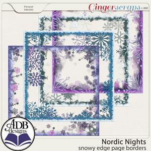 Nordic Nights Snowy Edge Page Borders by ADB Designs