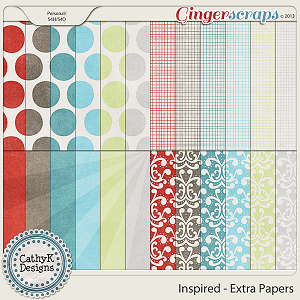 Inspired Extra Papers: by CathyK Designs